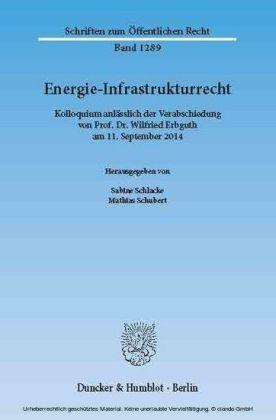 Energie-Infrastrukturrecht.
