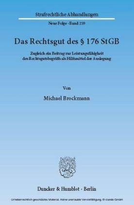 Das Rechtsgut des 176 StGB.