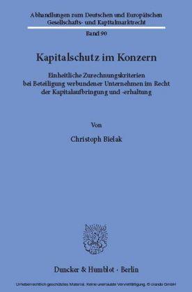 Kapitalschutz im Konzern.