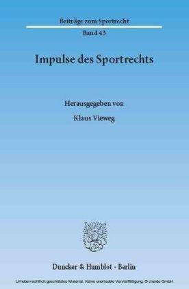 Impulse des Sportrechts.