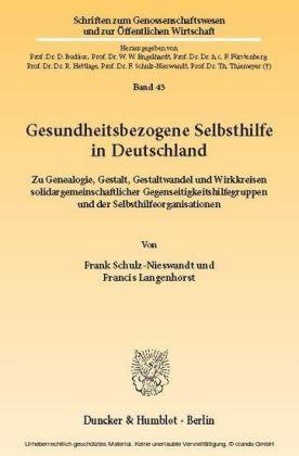 Gesundheitsbezogene Selbsthilfe in Deutschland.