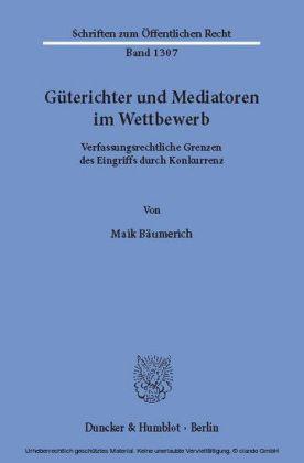 Güterichter und Mediatoren im Wettbewerb.