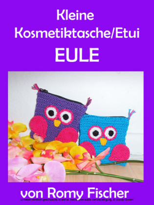 Kleine Kosmetiktasche/Etui Eule