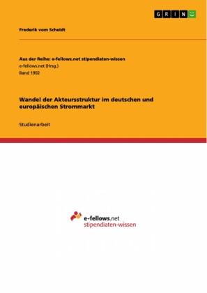 Wandel der Akteursstruktur im deutschen und europäischen Strommarkt