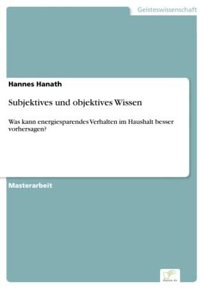 Subjektives und objektives Wissen