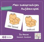 Mein zweisprachiges Aufdeckspiel, Zu Hause Deutsch-Kurdisch (Kinderspiel) Cover