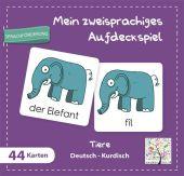 Mein zweisprachiges Aufdeckspiel, Tiere, Deutsch-Kurdisch (Kinderspiel) Cover