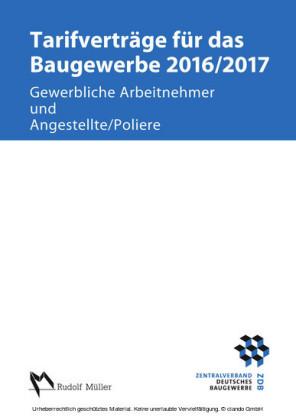 Tarifverträge für das Baugewerbe 2016/2017 - E-Book (PDF)