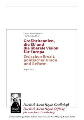 Grossbritannien, die EU und die liberale Vision für Europa