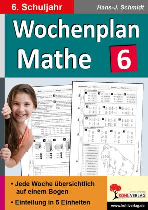 Wochenplan Mathe / Klasse 6
