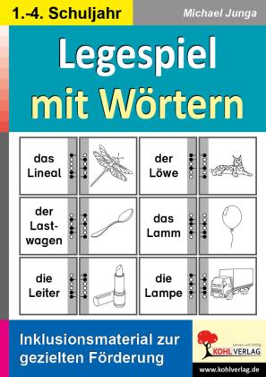 Legespiel mit Wörtern