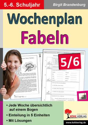 Wochenplan Fabeln / Klasse 5-6