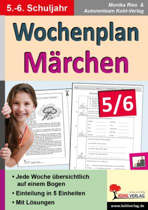 Wochenplan Märchen / Klasse 5-6