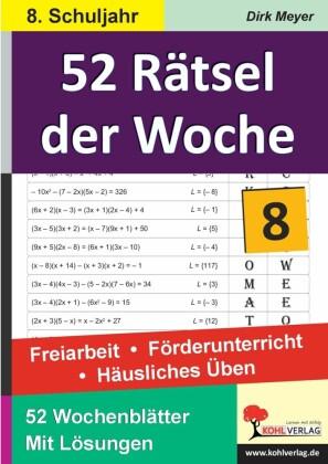 52 Rätsel der Woche / Klasse 8