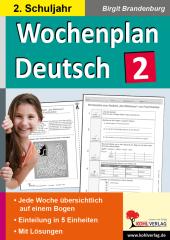 Wochenplan Deutsch / Klasse 2