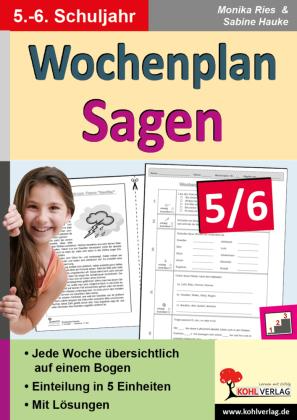 Wochenplan Sagen / Klasse 5-6