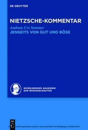 Kommentar zu Nietzsches 'Jenseits von Gut und Böse'