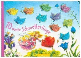 10 bunte Schmetterlinge