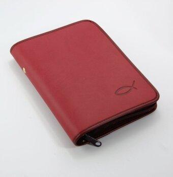 Gotteslobhülle - Kunstleder rot, Reißverschluss