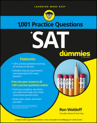 1,001 SAT Practice Problems For Dummies