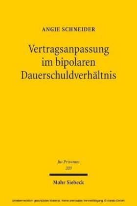 Vertragsanpassung im bipolaren Dauerschuldverhältnis