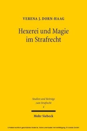 Hexerei und Magie im Strafrecht