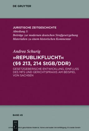 'Republikflucht' ( 213, 214 StGB/DDR)