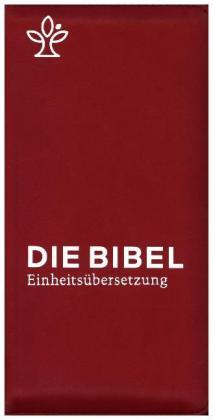 Die Bibel. Einheitsübersetzung, Taschenausgabe mit Reißverschluss - rot