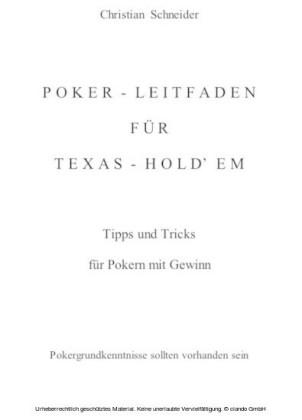 Poker-Leitfaden für Texas-Hold'em