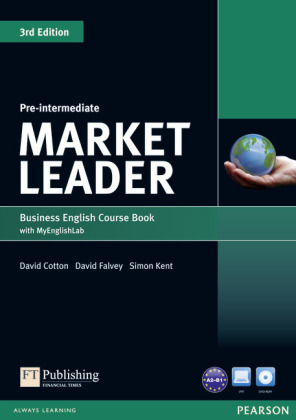 Market Leader 3rd Edition Pre-Intermediate Coursebook with DVD-ROM and MyEnglishLab Student online access code Pack, m.