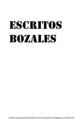 ESCRITOS BOZALES