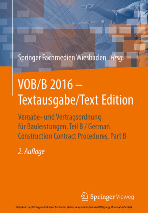 VOB/B 2016 - Textausgabe/Text Edition
