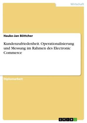 Kundenzufriedenheit. Operationalisierung und Messung im Rahmen des Electronic Commerce