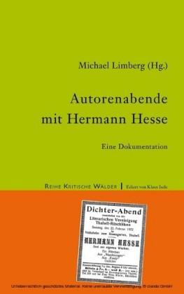 Autorenabende mit Hermann Hesse
