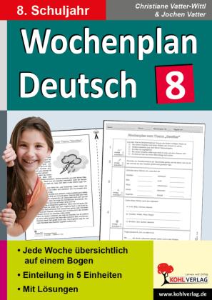Wochenplan Deutsch / Klasse 8
