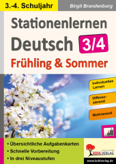 Stationenlernen Deutsch / Frühling & Sommer - Klasse 3/4