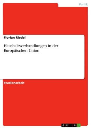 Haushaltsverhandlungen in der Europäischen Union