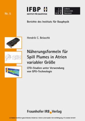 Näherungsformeln für Spill Plumes in Atrien variabler Größe.