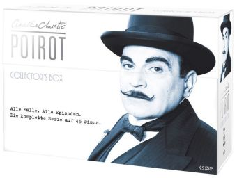 Poirot Collectors Box limitiert, 45 DVDs