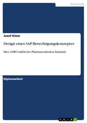Design eines SAP-Berechtigungskonzeptes