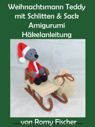 Weihnachtsmann Teddy mit Schlitten & Sack