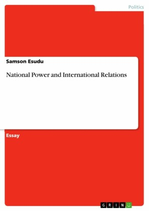 National Power and International Relations