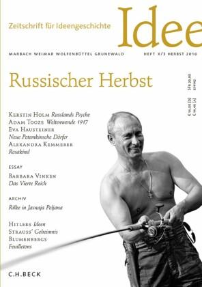 Zeitschrift für Ideengeschichte Heft X/3 Herbst 2016