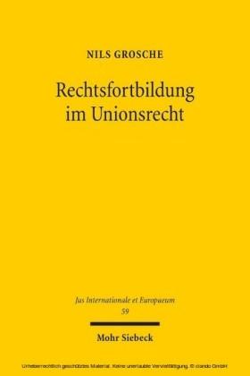 Rechtsfortbildung im Unionsrecht