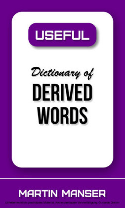 Useful Dictionary of Derived Words