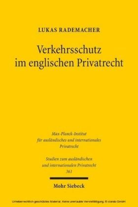 Verkehrsschutz im englischen Privatrecht