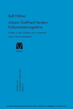 Johann Gottfried Herders Kulturentstehungslehre