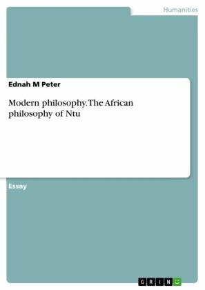 Modern philosophy. The African philosophy of Ntu