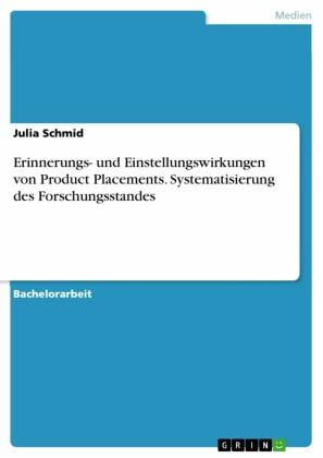 Erinnerungs- und Einstellungswirkungen von Product Placements. Systematisierung des Forschungsstandes