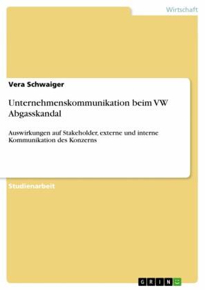 Unternehmenskommunikation beim VW Abgasskandal